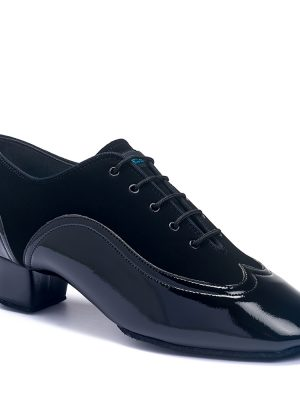 Мужская латина - турнирные International JONES - BLACK NUBUCK/BLACK PATENT